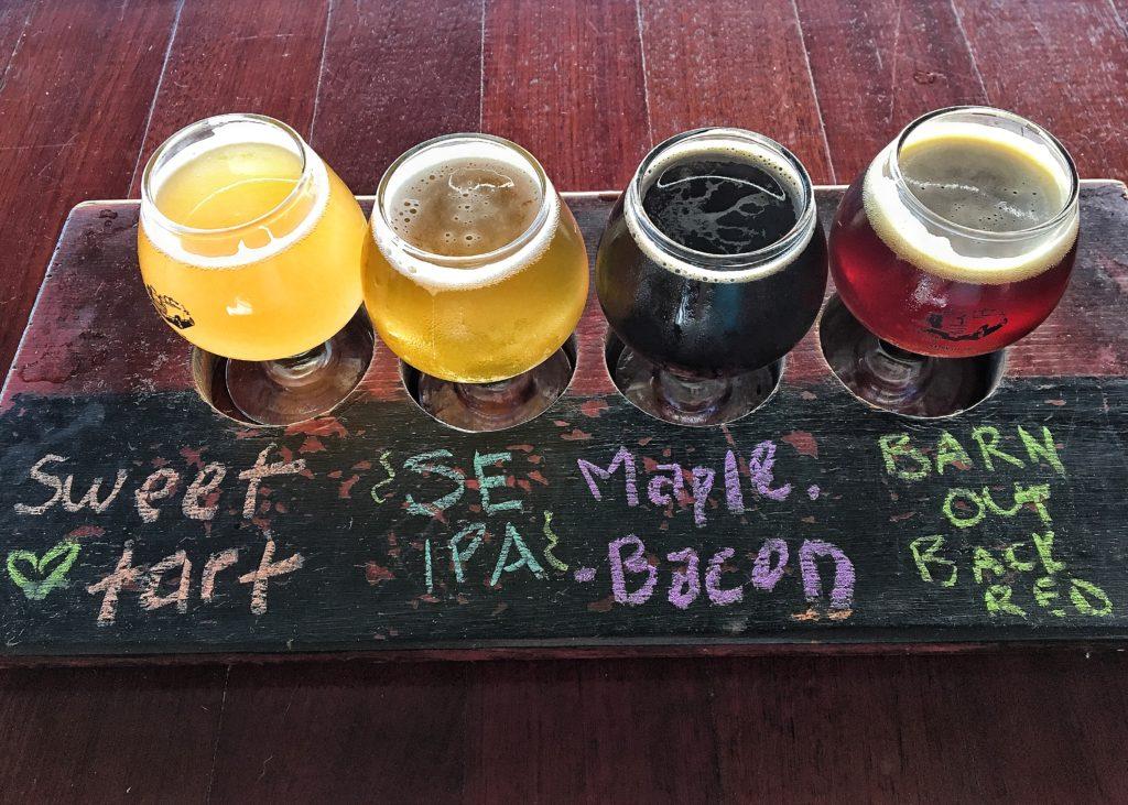 Flight of Beer Tailgate Beer, Nashville Best Craft Breweries