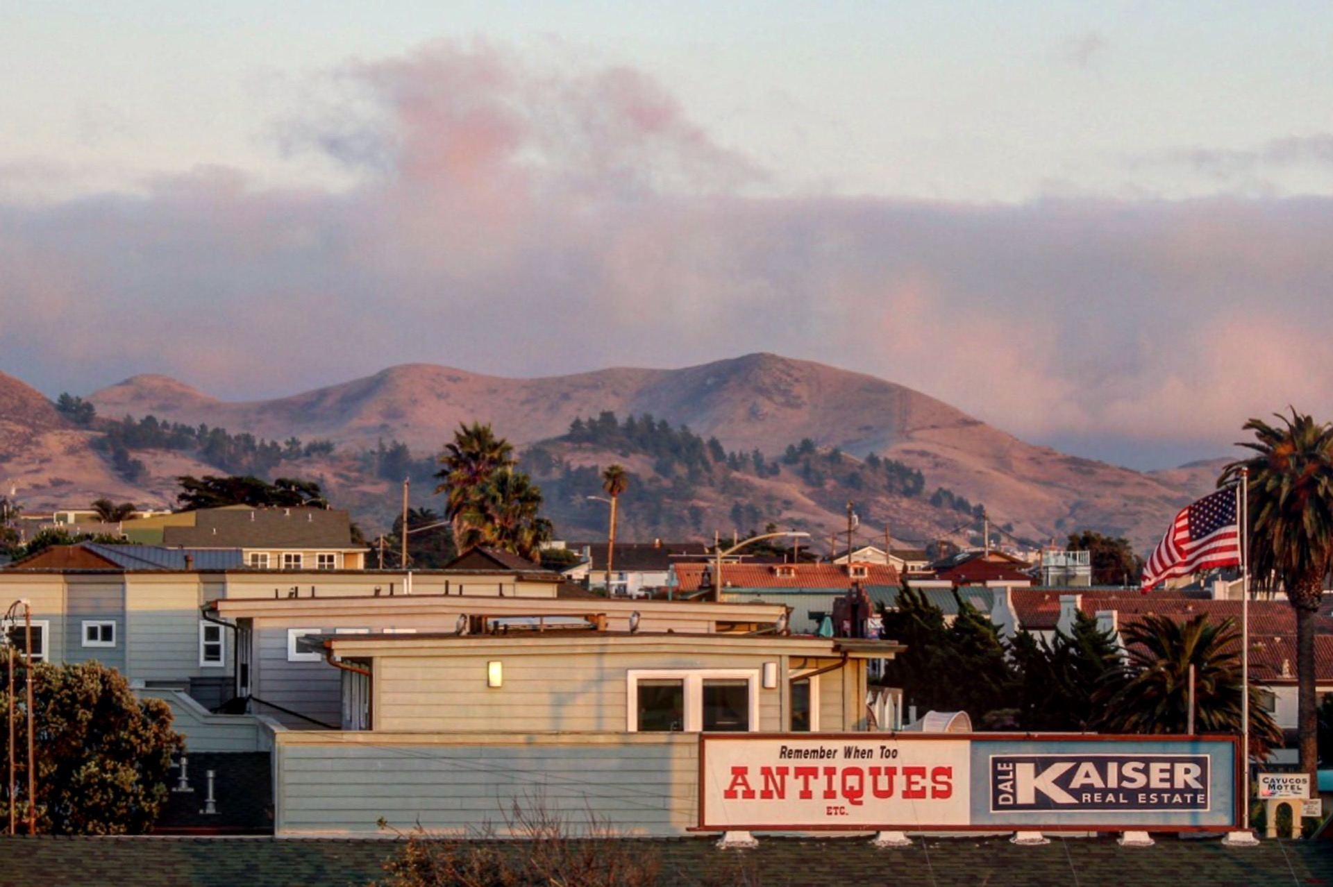 Cayucos and Surrounding Hills From the Rooftop